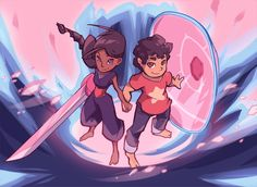 """grandpabats: """"My long overdue Stevonnie print! I'll have it for sale at the next con I get into :l """""""