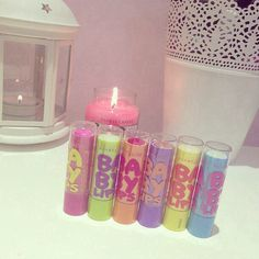 Baby lips xxxxxx whats your favourite?? I don't no which one to get Im thinking 'Cherry Time' ????