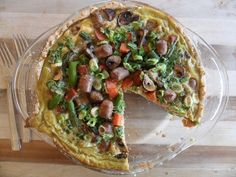 Cornbread Quiche     (by Julia @RoastedRootFood for the Whole Grain Brunch)