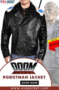 You can now wear the Robotman Jacket from Doom Patrol that is introduced by Brendan Fraser while portraying the character of Cliff Steele. Shop this leather jacket now! Superhero Series, Doom Patrol, Jacket Style, Real Leather, Motorcycle Jacket, Shop Now, Leather Jacket, How To Wear, Jackets