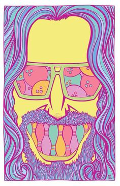 The dude abides. And the dude approves of this print, man. Dudeism, Wall Prints, Poster Prints, The Big Lebowski, Alternative Movie Posters, Good Movies, Disney Characters, Fictional Characters, Aurora Sleeping Beauty