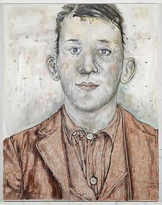 Young Man, oil on linen, by Hannah van Bart