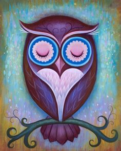 Night Owl Acrylic Painting | ... paintings out. These paintings are centered around sweet looking owls