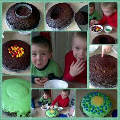 Cake we made using ideas from pintrest