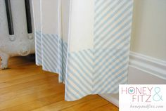 Easy Bias Stripe Nursery Curtains & Diagonal Stripe Fabric, Also easy tips for a DIY pinch pleat, lovely!