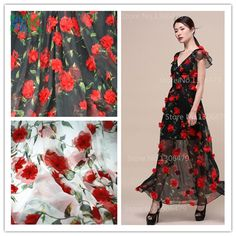 Find More Lace Information about 2016 Hot Lace New summer black white three dimensional embroidery flower lace fabric 130cm chiffon lace dress clothing diy acces,High Quality dress wicked,China fabric wallpaper Suppliers, Cheap dress fabric samples from Guangzhou Yikunze Trade Co., Ltd. on Aliexpress.com