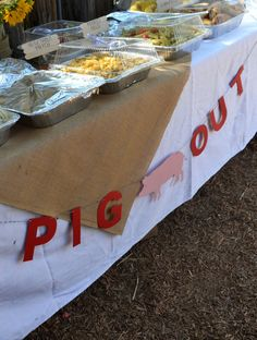 Pig Out Banner Farm Theme Bunting Banner Animal by HouseOfMark