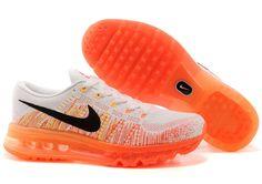 Frauen Nike Flyknit Air Max 2014 Weiß Orange