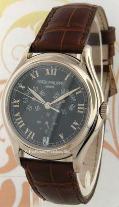 Patek Philippe 5035G Annual Calendar, Black Dial White Gold
