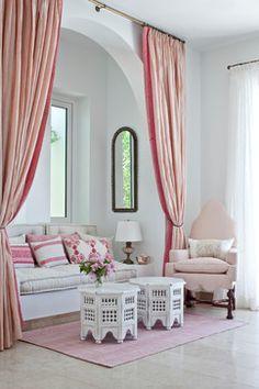 Anguilla, B.W.I. Villa mediterranean living room- by Lien Luu Ltd.  nice elements for girls bedroom.