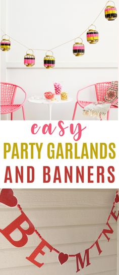 Whether you're having a small family party or a huge celebration with friends, these easy party garlands and banners will be sure to add that spark of color and fun. They're bright and festive and such an easy way to decorate your home or car! #diy #crafts #teencrafts #projects #diycrafts #diyprojects #fundiys #funprojects #diyideas #craftprojects #diyprojectidea #teencraftidea #partydecor Cool Gifts For Teens, Diy For Teens, Diy Projects For Teens, Crafts For Teens, Craft Projects, Craft Ideas, Diy Birthday Banner, Diy Banner