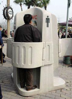 Little public for me.. outdoor toilet
