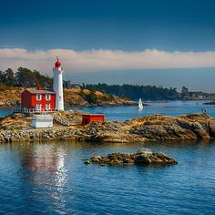 Fisgard Lighthouse the oldest lighthouse on the west coast of Canada, Victoria, British Columbia My friend Aaron grew up on island and recommened we go visit. Victoria Canada, Victoria British Columbia, Visit Victoria, The Places Youll Go, Places To See, Saint Mathieu, Sports Nautiques, Lighthouse Pictures, Canada Travel