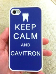 Keep calm and cavitron!  Dental geek phone case :)  Are you looking for a dental assisting study guide? www.DentalAssistantStudy.com