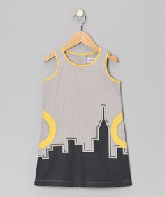 Take a look at this Stone Cityline Dress - Toddler & Girls on zulily today!