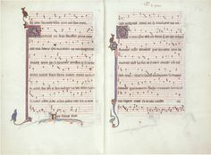 First pages from Montpellier Codex with a 3-voice piece
