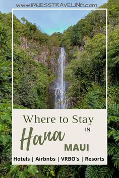 This is where to stay in Hana, Maui, Hawaii including | Hotels | Airbnbs | VRBO's | Resorts |. Hana is remote and magical. Planning ahead on where to stay in Hana as places to stay are limited… More Hawaii Vacation, Maui Hawaii, Visit Hawaii, Amazing Destinations, Travel Destinations, Maui Hotels, Travel Guides, Travel Tips, Budget Travel