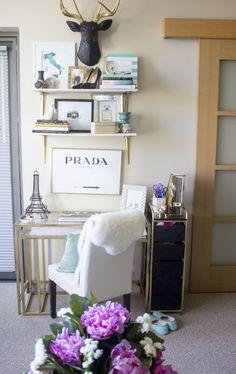 My Seattle Apartment Tour + A Giveaway Office Decor, Home Office, Seattle Apartment, Small Spaces, Wall Decor, Tours, Ideas, Furniture, Ikea Hacks