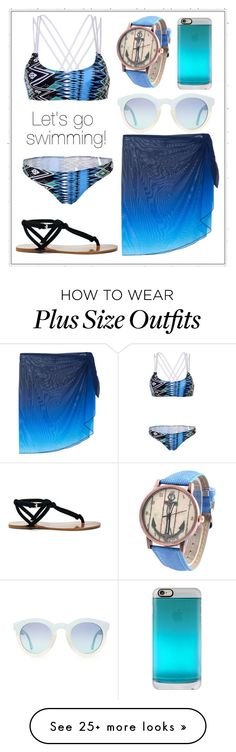 """""""279: Let's go Swimming!"""" by alinepelle on Polyvore featuring WithChic, Miraclesuit, Sole Society and Casetify"""