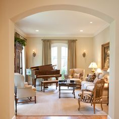 French Country - traditional - family room - houston - Creative Touch Interiors