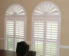 Discover the variety of window treatments available for arched windows. Shop in-home with a Budget Blinds Style Consultant today! Arched Window Coverings, Arched Windows, Window Blinds, Round Windows, Window Shutters, Wood Blinds, Bathroom Window Treatments, Window Treatments Living Room, Bedroom Windows