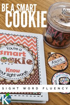 Be a Smart Cookie! A Differentiated Sight Word Fluency System – The K Files Be a Smart Cookie! A Differentiated Sight Word Fluency System – The K Files Learning Sight Words, Sight Word Practice, Sight Word Activities, Phonics Activities, Kindergarten Activities, Learning Activities, Sight Word Wall, Dolch Sight Word List, Sight Words List