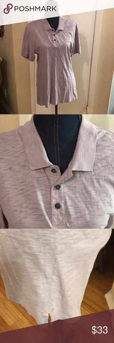 Shirt 👔 Vince Men's polo shirt assuredness excellent condition it's a size large and it's a really pretty lavender Vince Shirts Polos