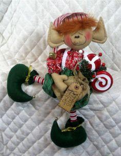 "Primitive Raggedy ""Elf Charlie"" 16"" Elf Pattern 230 | eBay"
