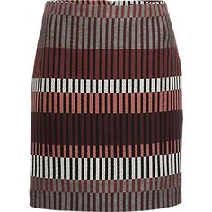 Rok, Jaquard Skirt - Costes #brown #print