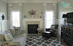 Benjamin+Moore+Revere+Pewter+:+The+Turquoise+Home+went+from+tan+to+light+gray+in+their+living+room,+and+I+can't+believe+the+difference+–+it+looks+like+a+totally+new+room!+The+paint+color+is+one+of+my+favorite+neutrals,+Benjamin+Moore+Revere+Pewter.+Thanks+Laura!+See+more+Benjamin+Moore+Revere+Pewterrooms.