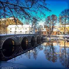 The bridge #visitorebro #örebro #navinter #reflection #bridge