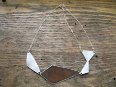 salvaged metal necklace