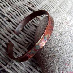 Koperen armband met koperen mannen armband door silveringjewelry