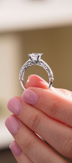 3 Stone Split Shank Halo Engagement Ring With Diamond Accents And