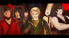 Oh dang look at this piece of work and...   ZANE.     #NinjagoMovie drawing by Erraday. Cole, Nya, Jay, Kai, Zane, and Lloyd