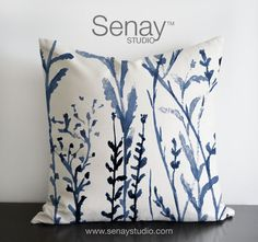 Meadows original design in dark blue colours by SenayStudio