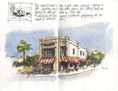 Sketching Architecture: Demo of corner cafe at Balmoral