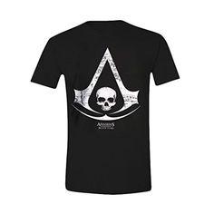 Assassin's Creed IV - camiseta con el logotipo de Black Flag - algodón - negra - XL #regalo #arte #geek #camiseta