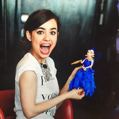 Dove Cameron isn't the only Descendants star who is getting made into a doll. Sofia Carson just met her doll, Evie, for the first time and her...