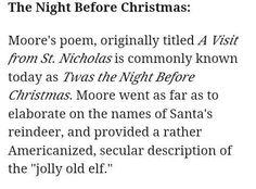 Santa Clause Santa Clause, Santa And Reindeer, Twas The Night, The Night Before Christmas, Pagan, Worship, Poems, Holidays, Learning
