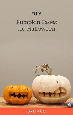 Bookmark this to get pumpkin carving inspiration by making a variety of jack-o-lantern faces.