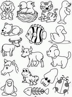 Drawing Lessons For Kids, Art Drawings For Kids, Cartoon Drawings, Animal Drawings, Easy Drawings, Art For Kids, Doodle Icon, Doodle Art, Kindergarten Drawing