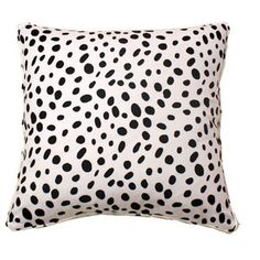 Black and White Spotted Pillow by Furbish