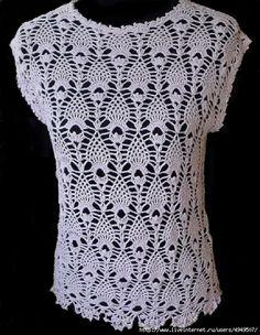 Delicadezas en crochet Gabriela: Delicada blusa