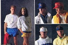 I had the sweatshirt on the left in the 80s.  Apple is coming out with a new clothing line.