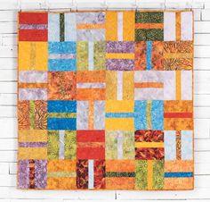 Banana Split Quilt Kit by Jessica VanDenburgh featuring Timeless Treasures Tonga Treats Fabric | Craftsy