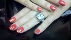 """OPI Gelcolor """"I Eat Mainely Lobster"""" with glitter accent"""