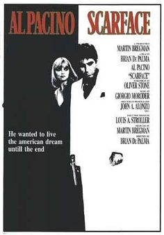 Scarface Movie Poster (#4 of 8) - IMP Awards Scarface Film, Scarface Poster, Al Pacino, Montana, Gangster Movies, Best Movie Posters, Michelle Pfeiffer, Vintage Movies, Movie Posters