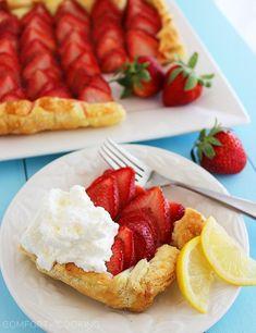 3-Ingredient Strawberry Tart with Lemon Whipped Cream