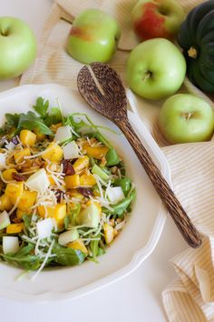 A Fall Salad with Roasted Butternut Squash and Apples Warm Apple Cider, Fall Salad, Squash Salad, Squashes, Roasted Butternut Squash, Dried Cranberries, Food Network Recipes, Apples, Salads